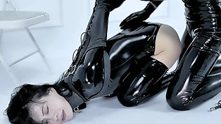 Two Steamy Bitches In Latex Outfits Having Fuck