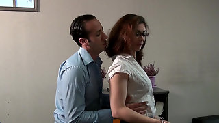 Hot Secretary Julia Gomez Spreds Her Legs For Horny Boss