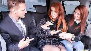 Busty Red-haired Czech Babe Isabella Lui Sucks And Fucks In The Car