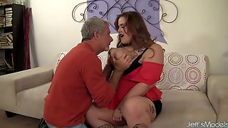 Big Tits Plumper Spreads Her Thick Legs For A Horny Grandpa