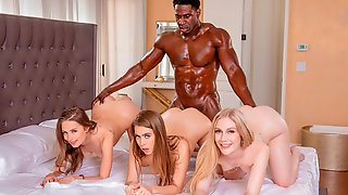 Reverse Interracial Gangbang With Jill Kassidy, Kyler Quinn And Emma Starletto