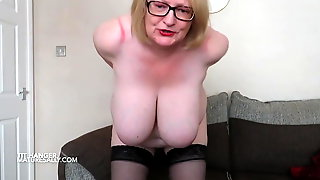 Sally Painfully Hangs Up Her Nipples