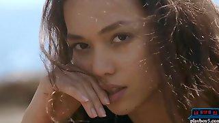 Filipina Teen Hottie Kit Rysha Strips Naked Outdoor
