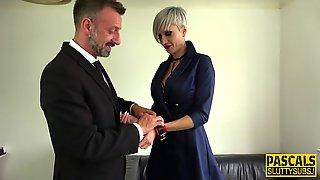 Tattooed Fetish Cougar Rides Pascal White