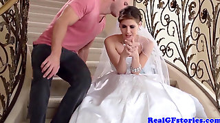 Wonderful Bride Facialized By Her Camera Operator