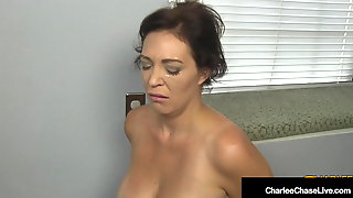 Big Titty Housewife Charlee Chase Kneels & Sucks Boss Cock!