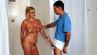 Stunning Blonde Nikki Blake Jumps On A Big Dick In The Locker Room