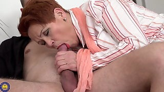 Hungry Granny Catch Boy Wanking And Fuck Him
