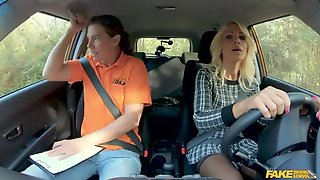 Rich Blonde With Huge Tits Tiffany Rousso Fucked By A Fake Driver