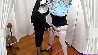 Nun Milks Out Sissy Cream