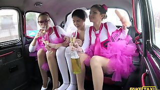 Cheerful Bride Cristal Caitlin Is Ready For An Amazing Fuck In The Taxi