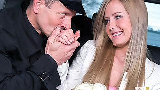 Sexy Hungarian Blondie Sicilia Gets Cum On Ass In The Backseat Of The Car