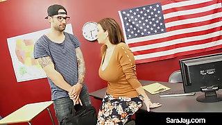 Plump Professor Sara Jay Fucked & Cummed On By Hard Student!