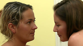 Lesbian Duo Elexis Monroe And Samantha Ryan Pleasing Each Others Twats