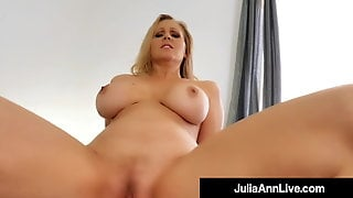 Horny Mommy Julia Ann Rides & Milks Her Step Sons Cock!