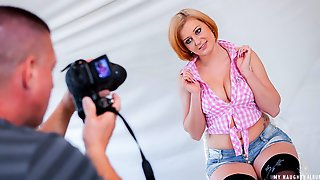 Voluptuous Czech Blondie Gets Cum On Her Big Tits In Hot POV Photoshoot Sex