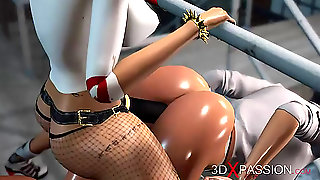 Harley Quinn Fucks Hard A Female Prison Warden With Strapon
