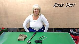 Hot Youtuber Biker Stuff - Pokies On White Shirt