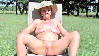 Mature Bare Woman SS Models Her Birthday Suit ( Nakedness)