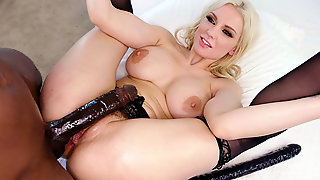 Kenzie Taylor Gets Her Ass Fucked By The Black Monster Cock