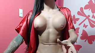 Epic Fit Babe Shemale In Red On Webcam By Sharingan98