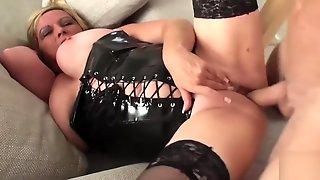 PASCALSSUBSLUTS - Leather MILF Alisha Rydes Fucking Hardcore