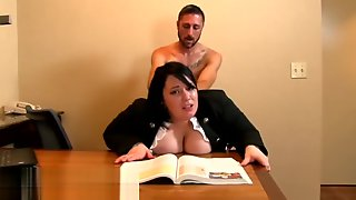Fat Thighs Secretary Humped Over Her Desk
