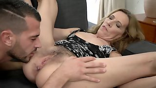 Lustful Old Lady Viol Fools Around With A Handsome Porn Actor