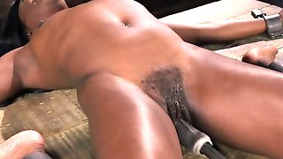 Fucking Machine Will Be The Reason For Ebony Submissives Orgasm