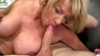 Young Neighbor Reaches The Goal And Fucks MILFs Pierced Vagina