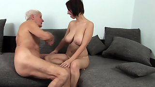 A Grandpa Gets It Up And He Fucks A Hot Teen With Some Large Tits