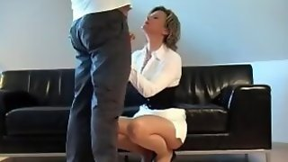 German Slut Takes A Load On Her Face