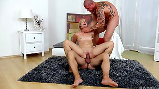 Severe Threesome Domination For The Young Amateur Blonde