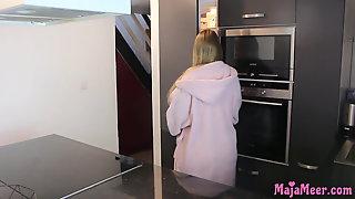 BBW Teen Maja Get Fucked In The Kitchen