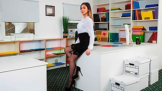 Latina In Stockings Nina North Jumps On A Pretty Big Wiener