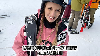 Teeny Fucks Publicly With The Ski Instructor