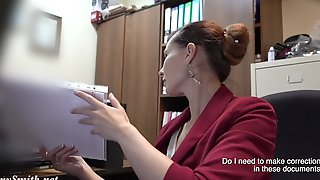 I Have Got A Job. Jeny Smith Gets Naked At Her Job