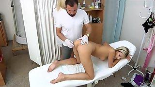 Ria Sunn Gyno Exam With Vaginal Ultrasound,enema And Ecg During Orgasm