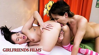 GirlfriendsFilms - Stepdaughter Practices Sex With Stepmom