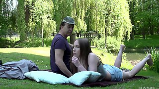 Outdoor Doggystyle And Cowgirl Riding With Amazing Lina Mercury