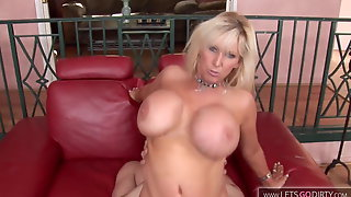 Blond Mature With Big Boobs Enjoy Her Stepson