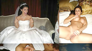 Wedding Sundress Before During After Wifey Husband Cuckold Milf
