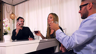 Married Lady Britney Amber Cuckolding Her Worm-like Husband
