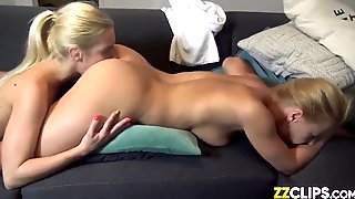 Lesbian Twin Sisters Lick The Asshole Until Orgasm
