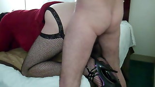 Crossdresser In Cheap Hotel Room Used By Dom Daddy