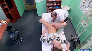 Short Haired Patient Sasha Comes To Get Her Fuck Medication