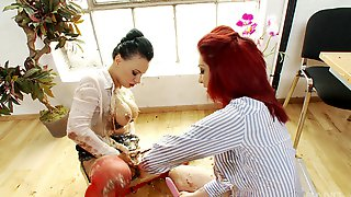 Two Dirty Lesbians Mai Bailey And Eva May Have Sex On The Floor