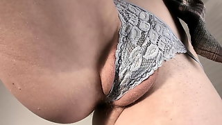 Closeup Of Panty Covered Pussy