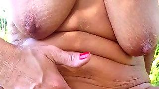 Saggy Tits Outdoor Wanker