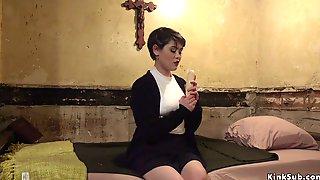 Brunette Sister Rimming Lesbian Nun